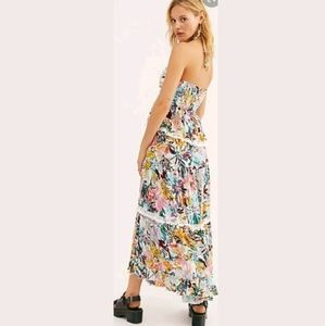Free People Kahlo Floral Tropical  Maxi Skirt